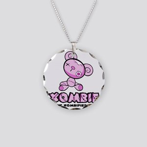 pink_bear Necklace Circle Charm