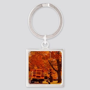 School Days Square Keychain
