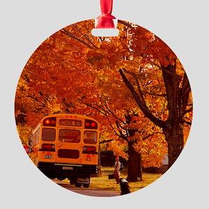 School Days Round Ornament