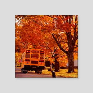 "School Days Square Sticker 3"" x 3"""