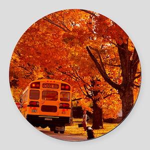 School Days Round Car Magnet
