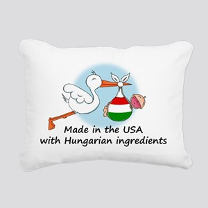 stork baby hun 2 Rectangular Canvas Pillow