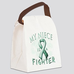 My Niece is a Fighter Teal Canvas Lunch Bag