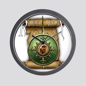 role_play_1_blk Wall Clock