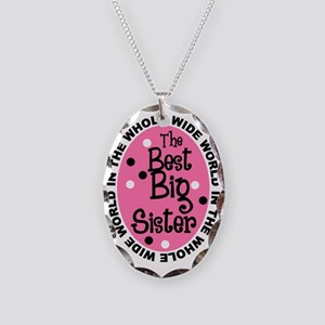 big sis Necklace Oval Charm