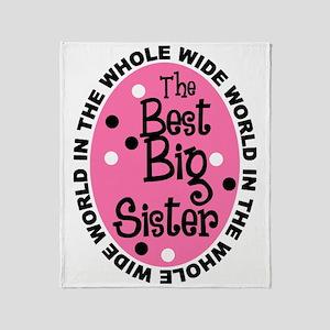big sis Throw Blanket