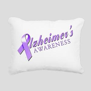 Alzheimers Awareness Rectangular Canvas Pillow