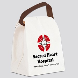 Sacred heart slogan Canvas Lunch Bag