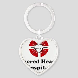 Sacred heart slogan Heart Keychain