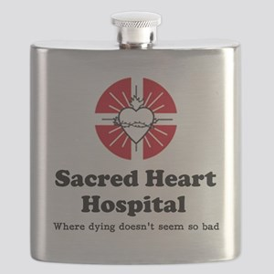 Sacred heart slogan Flask