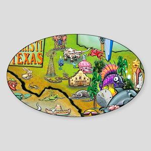 Corpus Christi TEXAS Map Card Sticker (Oval)