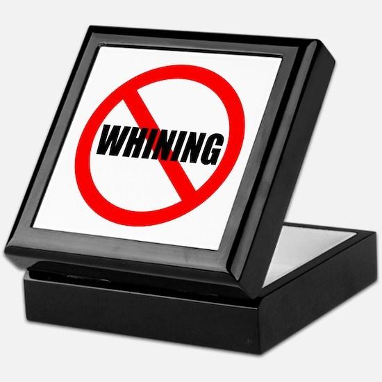 No Whining for black Keepsake Box
