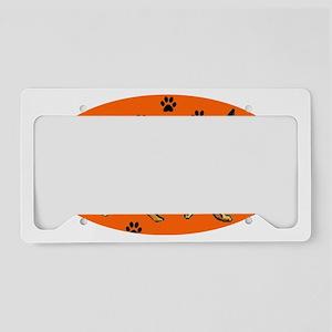 german_shepherd_pawprints License Plate Holder