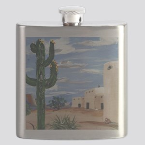 adobe and cactus Flask