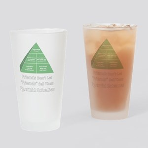4-shirt-pyramid-white-lettering Drinking Glass
