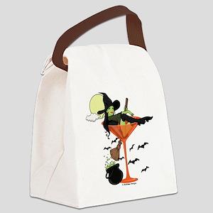 Halloween Martini Canvas Lunch Bag