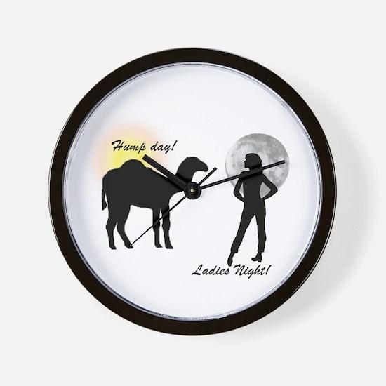 Hump Day, Ladies Night Wall Clock