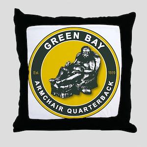THE ARMCHAIR QB - Green Bay2 Throw Pillow