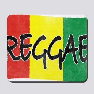 Reggae flag burlap crush-faded Mousepad