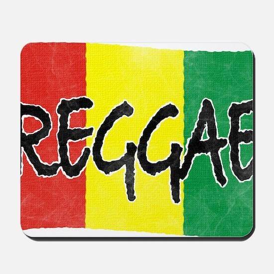 Reggae flag burlap crush-faded Mousepad