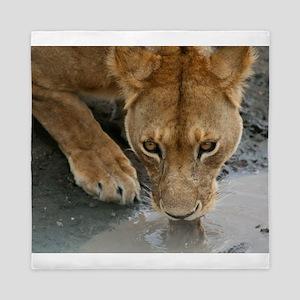 Serengeti Lioness Queen Duvet