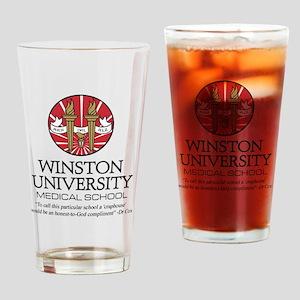 Winston uni quote Drinking Glass