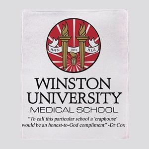 Winston uni quote Throw Blanket