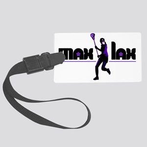 2-max_lax_purple Large Luggage Tag