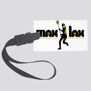 max_lax_blackgold Large Luggage Tag