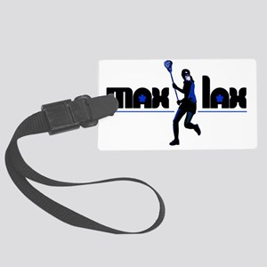 max_lax_blueblack Large Luggage Tag