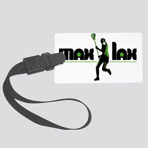 max_lax_greenblack Large Luggage Tag