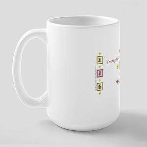 OneStitchAtATime1mug Large Mug