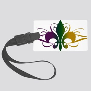 fleur-de-lis-swirls_color Large Luggage Tag