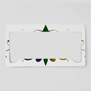 fleur-de-lis-swirls_color License Plate Holder