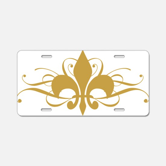 fleur-de-lis-swirls_light Aluminum License Plate