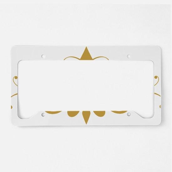 fleur-de-lis-swirls_light License Plate Holder