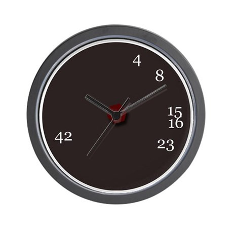 Lost numbers clock Wall Clock