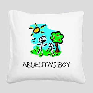 abuelitas boy stick figure Square Canvas Pillow