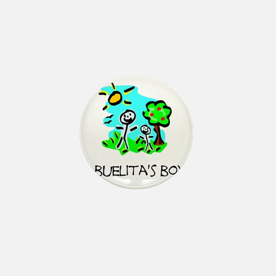abuelitas boy stick figure Mini Button