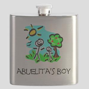 abuelitas boy stick figure Flask