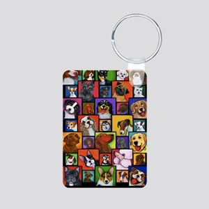 Maggies Angels Dogs Aluminum Photo Keychain