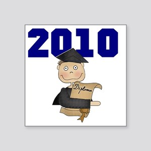 "2010BLUEboy Square Sticker 3"" x 3"""