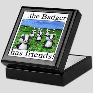 2-badger has friends Keepsake Box