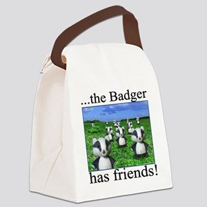 2-badger has friends Canvas Lunch Bag
