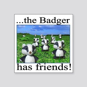 "2-badger has friends Square Sticker 3"" x 3"""