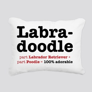 labradoodle Rectangular Canvas Pillow