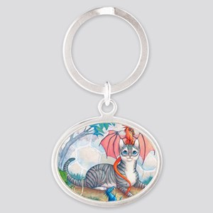 ThomasAndTheDrgnMS Oval Keychain