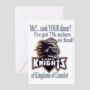 lady knight lg Greeting Card