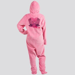 Twilight Eclipse Pink Wings Footed Pajamas
