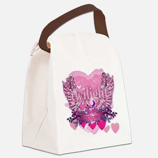 Twilight Eclipse Pink Wings Canvas Lunch Bag